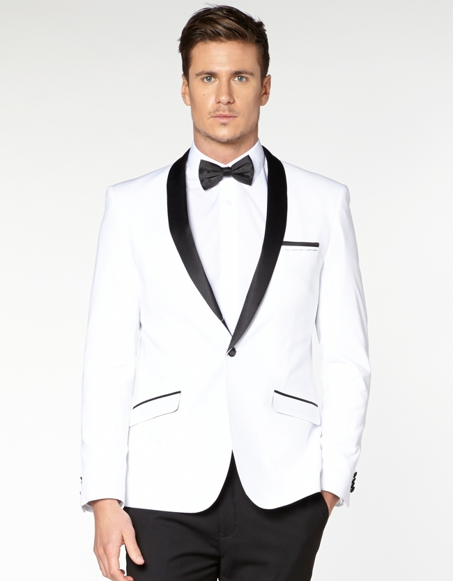 White Tux Wedding