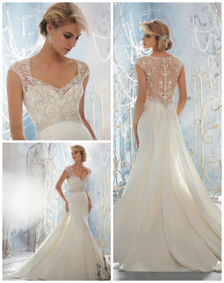 Wedding dress silver embroidery for White and silver wedding dresses