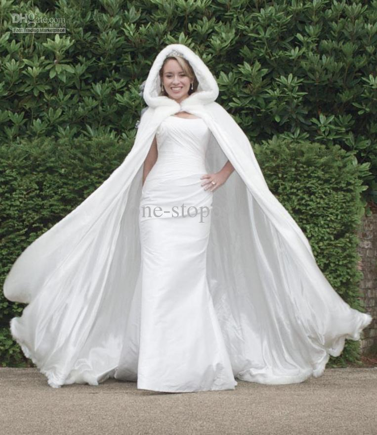 Wholesale 2013 Stunning Bridal Capes Ivory Wedding Cloaks Faux Fur