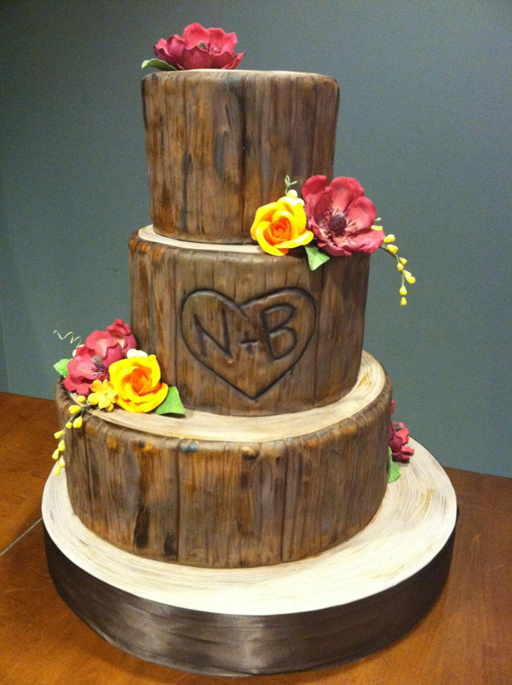 wedding cake wood wood wedding cake 26987
