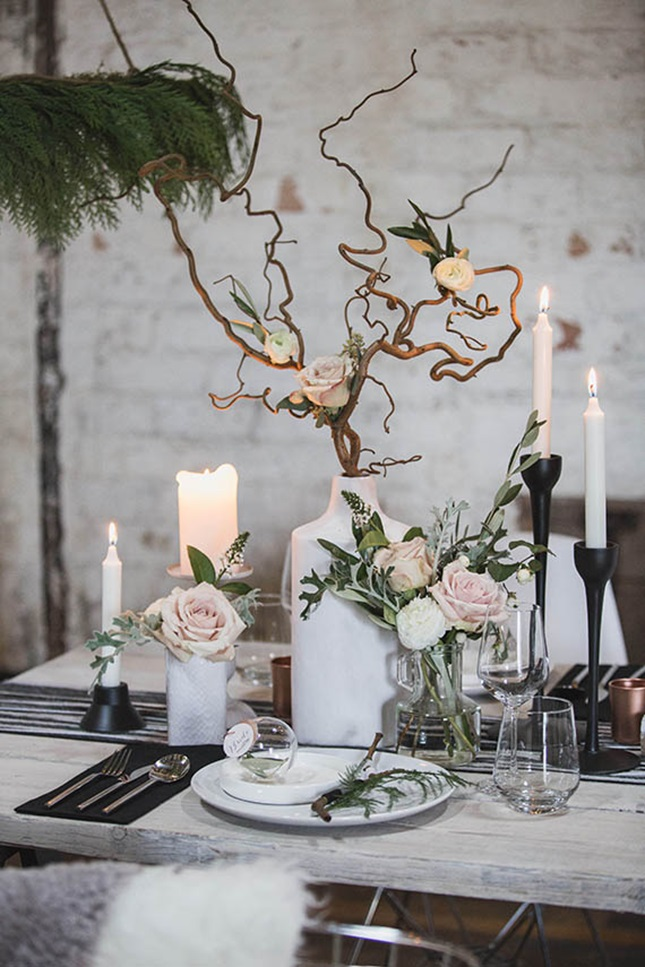 Famous Wedding Twig Centerpieces Vignette - Wedding Dress ...
