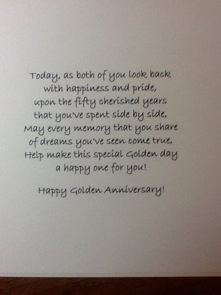 50th Wedding Anniversary Cards For Grandparents
