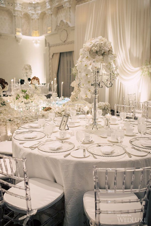 White On White Wedding Decor