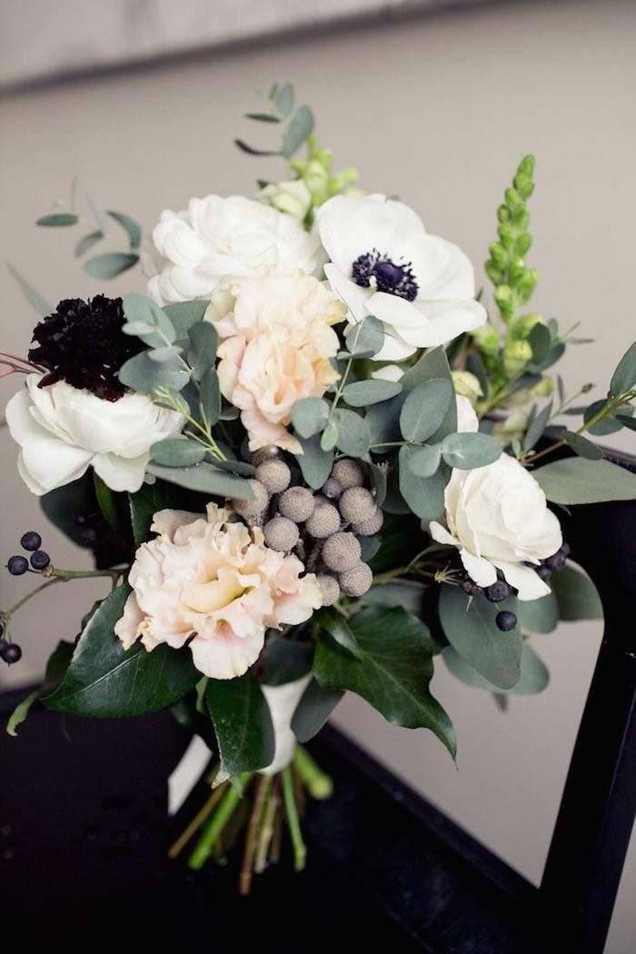 White flowers with navy blue center choice image flower decoration anemones flower bouquet wedding gallery anemone flower wedding bouquet mightylinksfo mightylinksfo