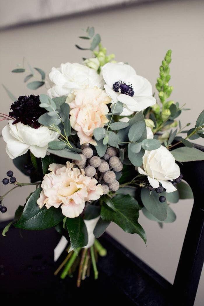 Anemone Flower Wedding Bouquet