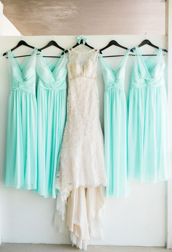 Aqua wedding dress for Key west wedding dresses