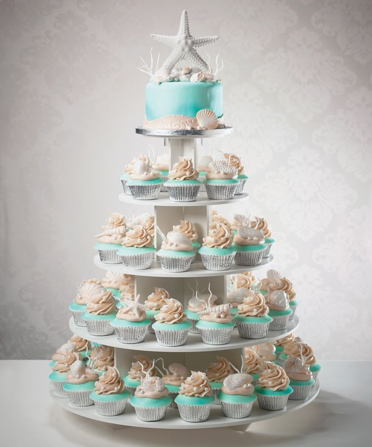 Wedding Cupcake Tier Ideas: Wedding Cakes For Beach Weddings