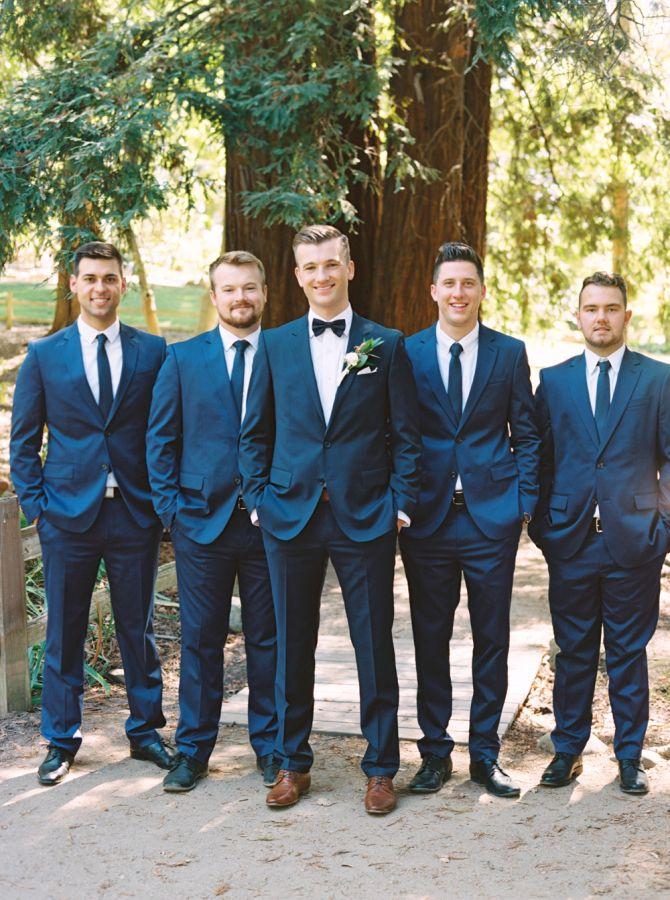 Blue Suits Wedding
