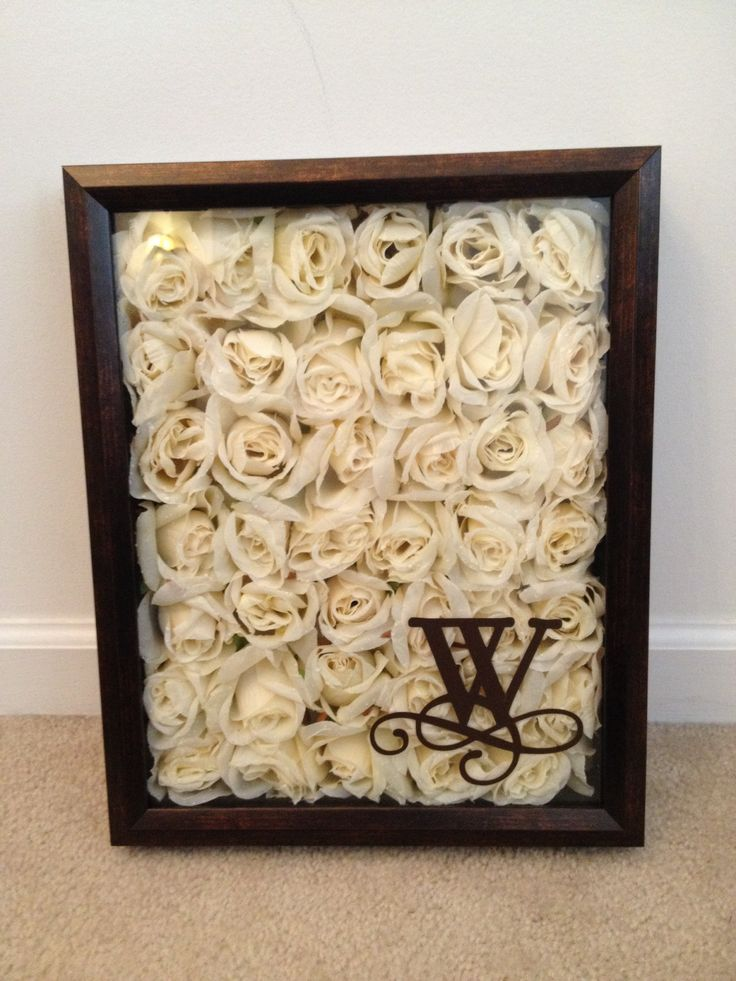 Dried Wedding Bouquet Shadow Box