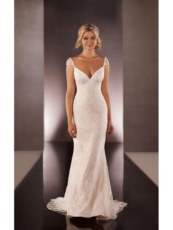 Capped sleeve wedding dresses