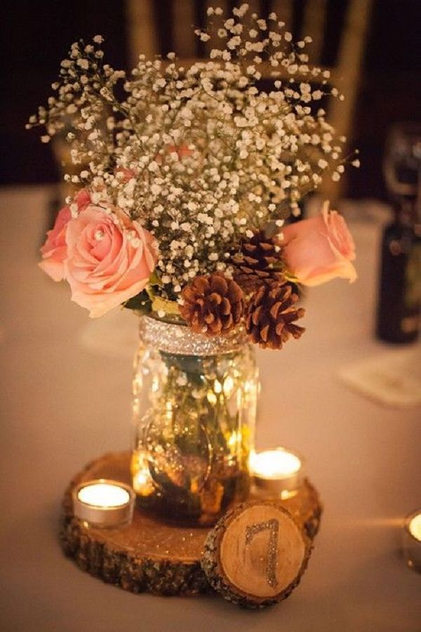 Awesome country wedding centerpiece ideas contemporary styles rustic country wedding centerpiece ideas junglespirit Image collections