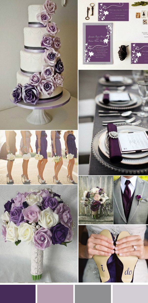 Tolle Purple Wedding Theme Reception Fotos Brautkleider Ideen
