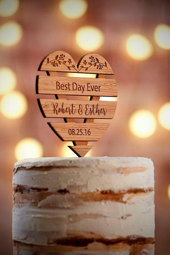 Best Day Ever Cake Topper Wire