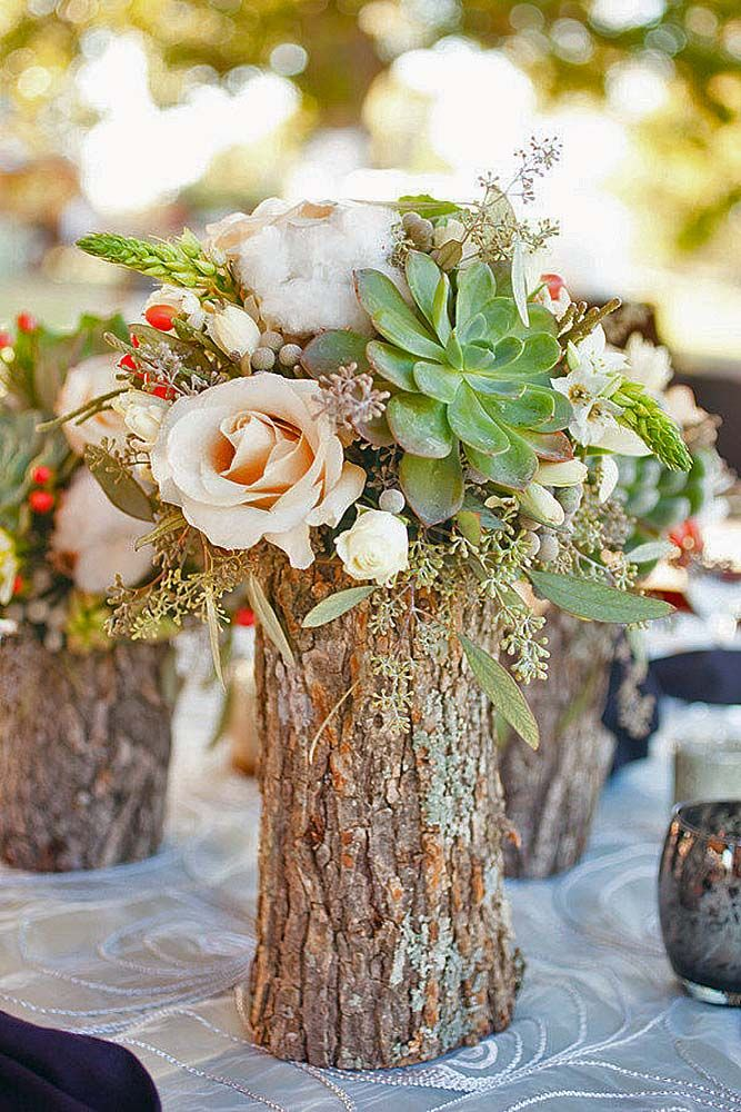 Stunning Rustic Centerpieces For Weddings Photos - Styles & Ideas ...