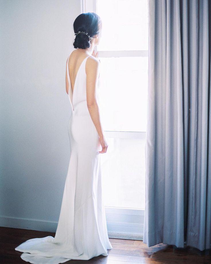 White Silk Slip Wedding Dress