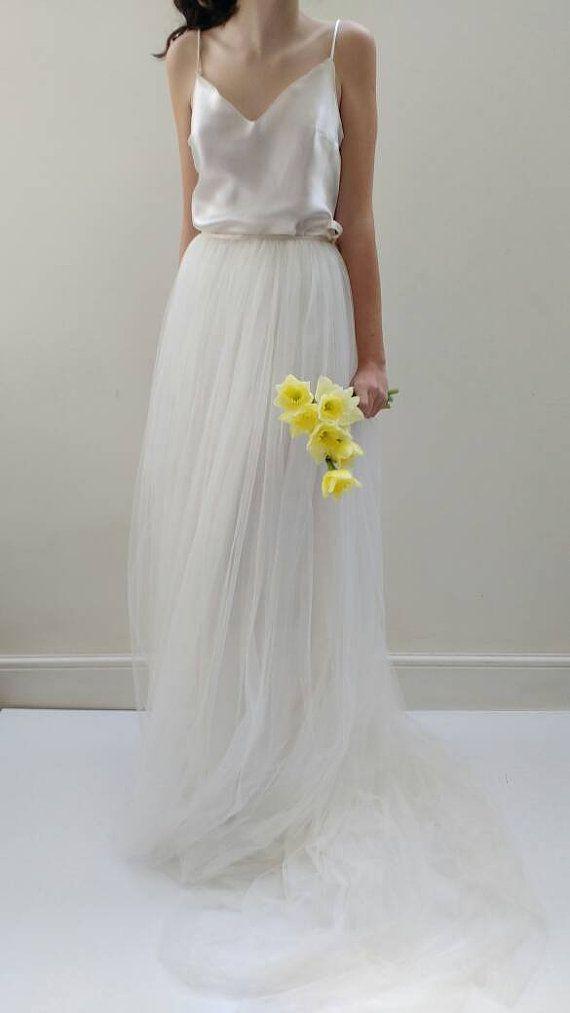 White silk slip wedding dress for White silk slip wedding dress