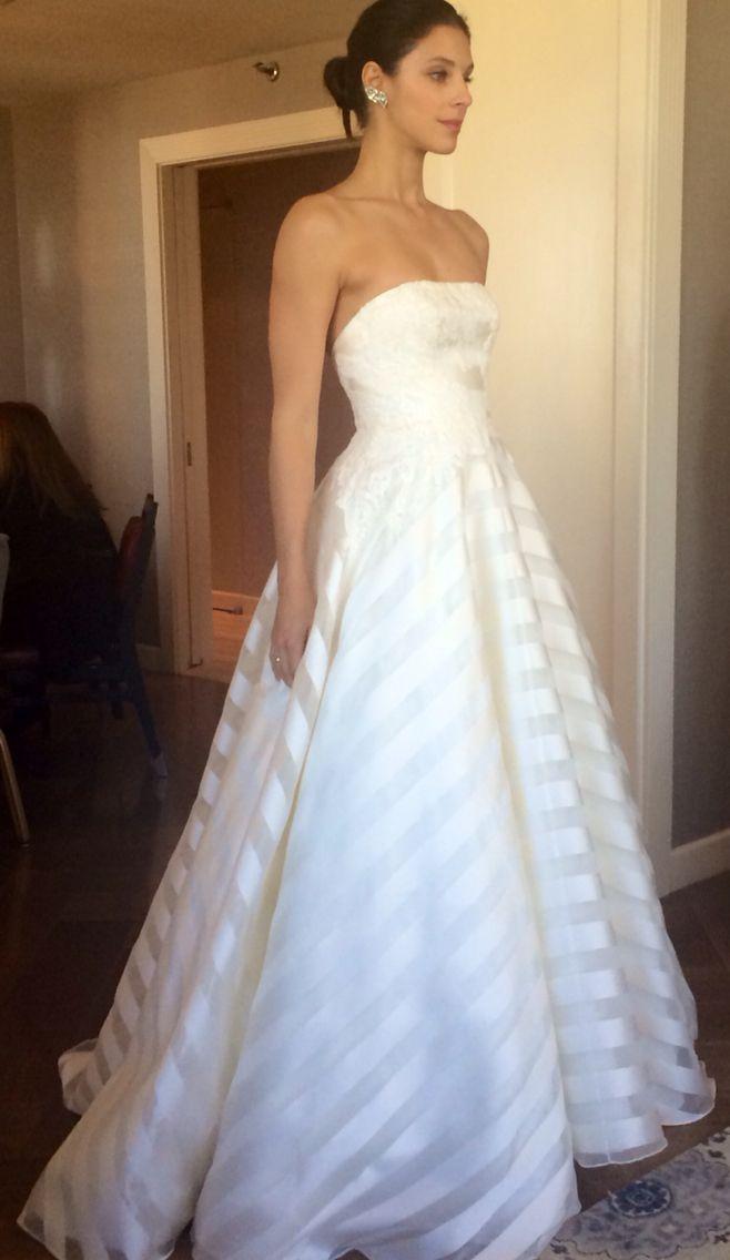 Striped Wedding Dress