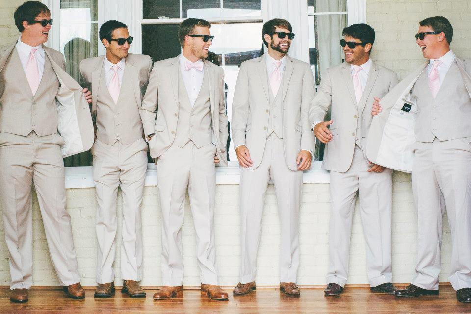 Tan Suits Wedding