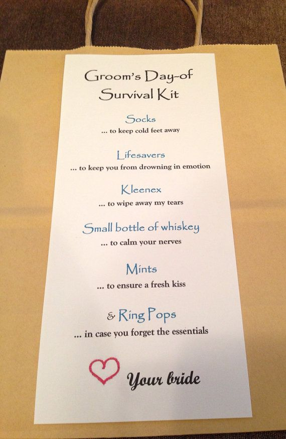 Wedding Survival Kit Gift