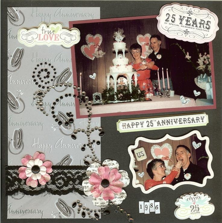 Ideas For 25th Wedding Anniversary Gift: 25th Wedding Anniversary Scrapbook Ideas