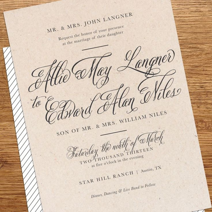 Outdoor Wedding Invitation Wording
