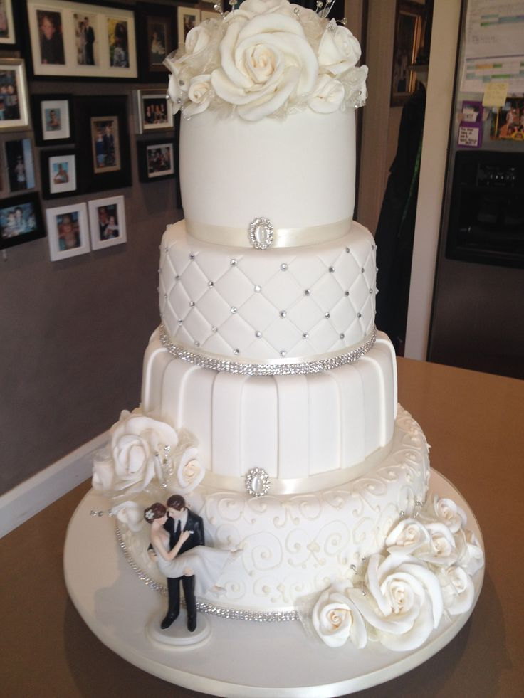 17 Best Images About Best Selling Home Plans On Pinterest: 4 Tier Wedding Cake Designs