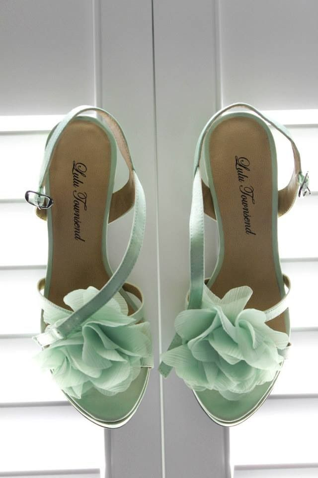 Mint Colored Heels. Mint Heart U Bow Sling Back Shoes With Mint ...
