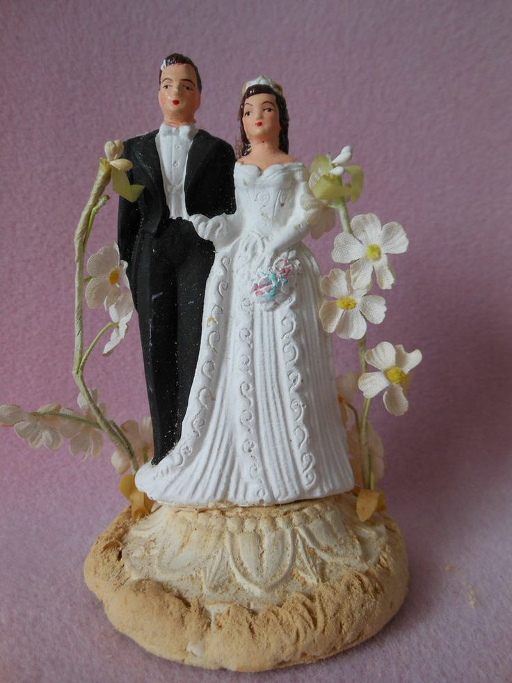Antique Wedding Cake Toppers Bride And Groom