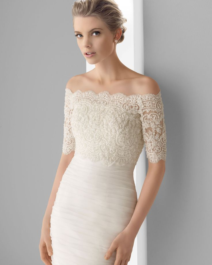 lace cover up for strapless wedding dress | Wedding