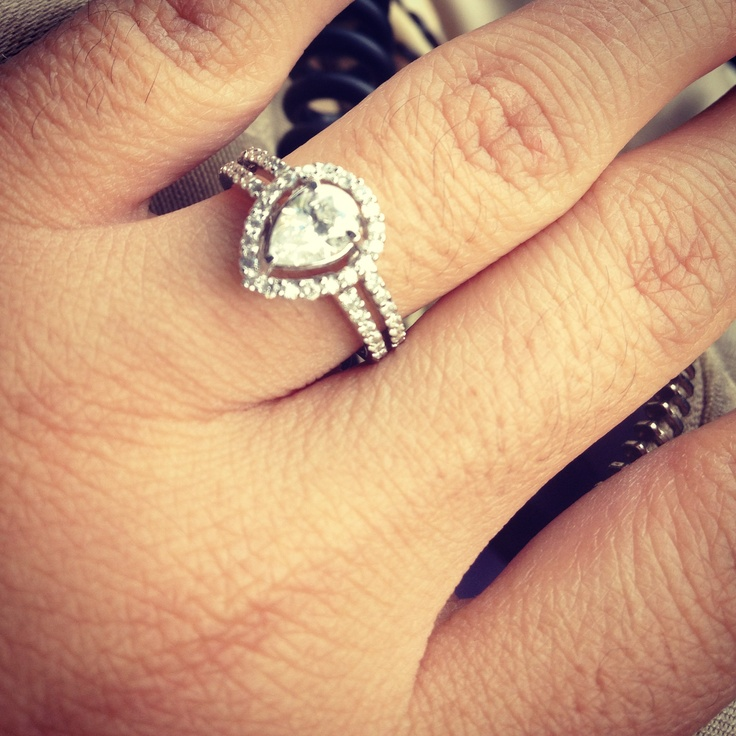 tear drop wedding ring - Teardrop Wedding Rings