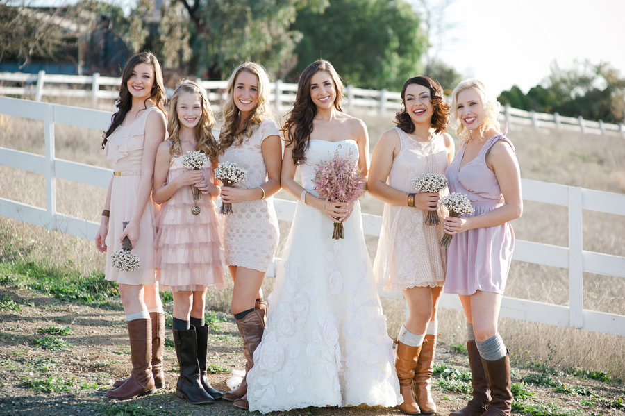 Country Chic Wedding Bridesmaid Dresses Elegant Rustic Chic Wedding ...