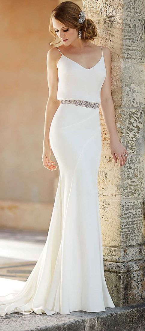 Simple wedding outfits for Courthouse wedding dress ideas