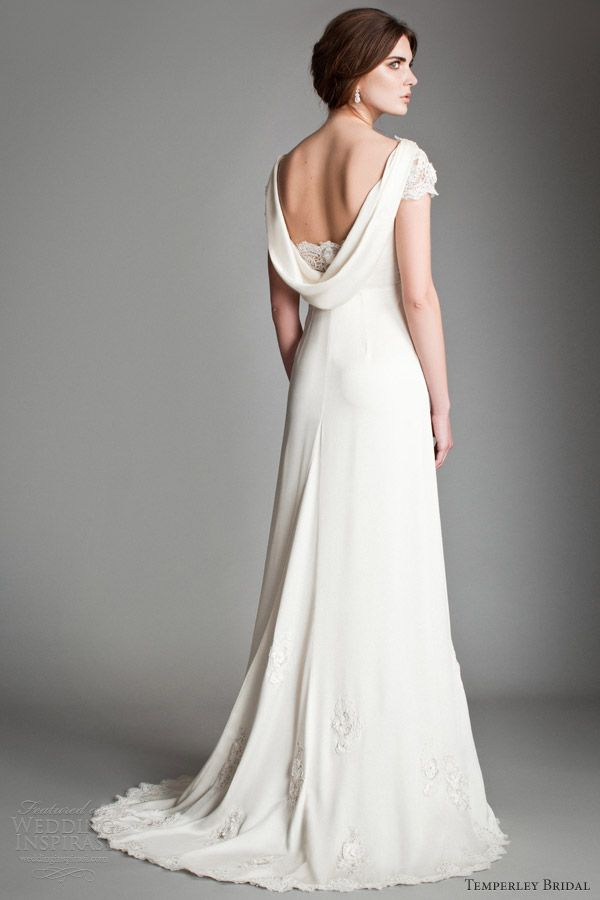 Cowl Back Wedding Dress