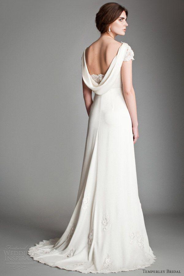 Cowl back wedding dress for Cowl back wedding dress