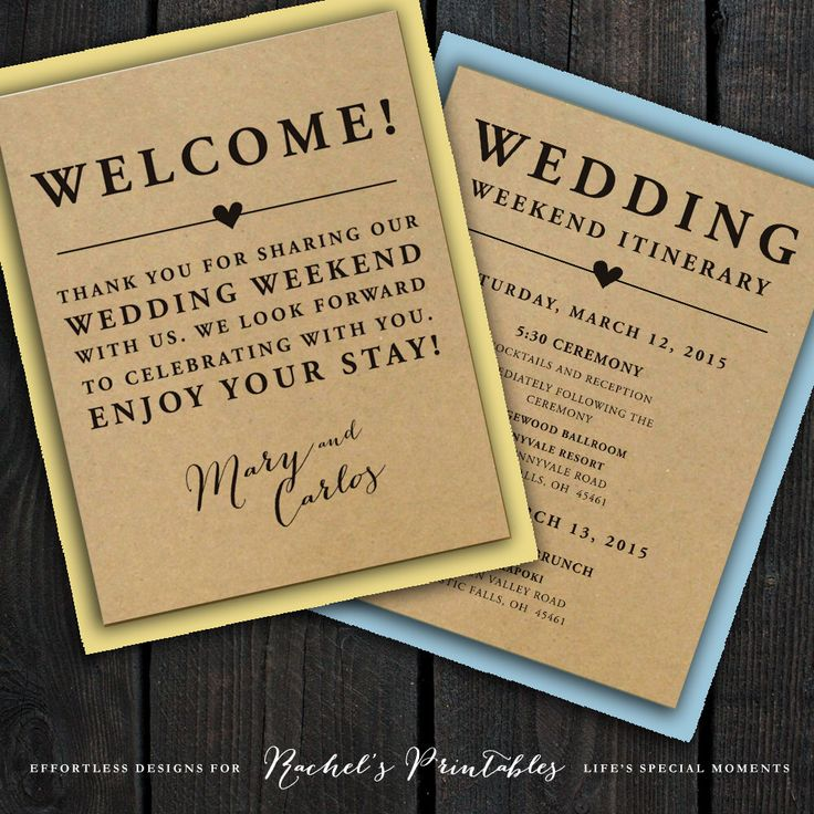Wedding welcome bag message junglespirit Choice Image