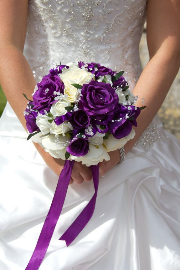 Purple Wedding Flowers. Purple Wedding Bouquet For Fall Weddings ...
