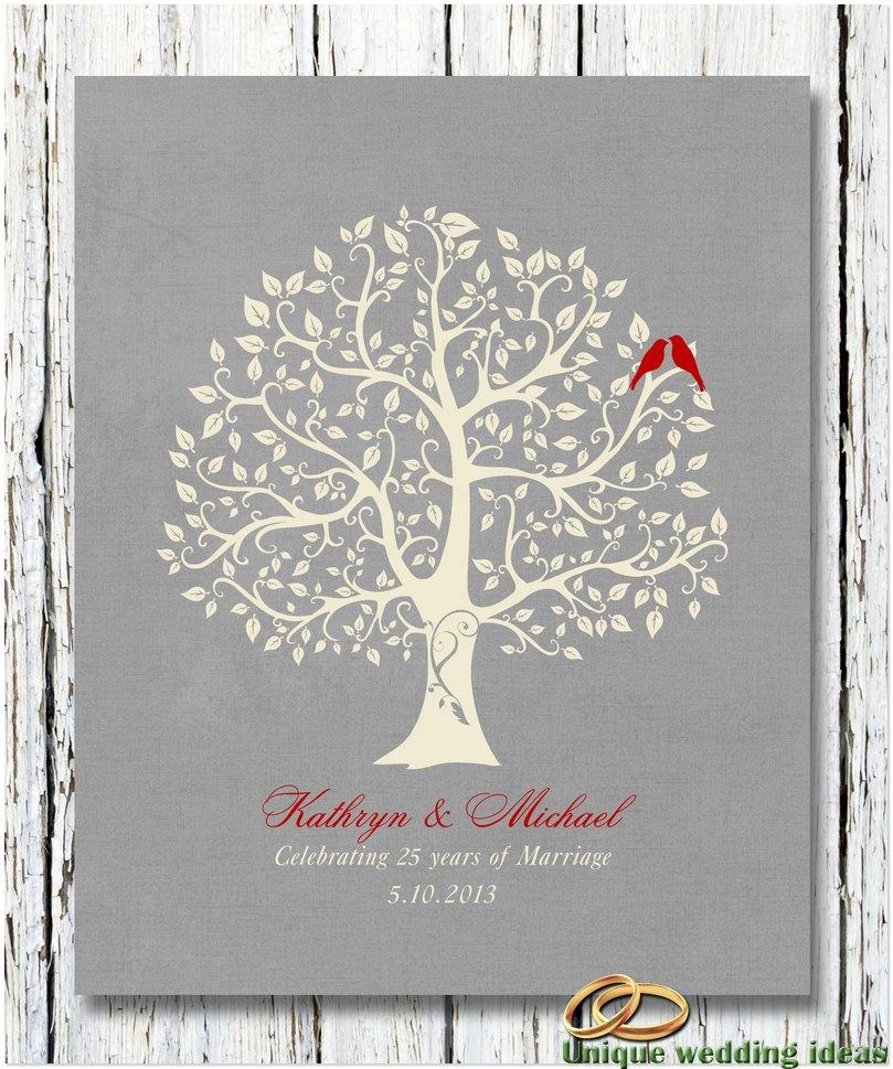 25 Year Wedding Anniversary Gifts 25th Ideas
