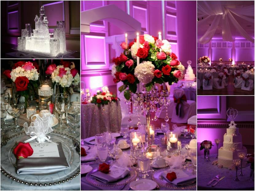 Red and white wedding centerpieces junglespirit Gallery