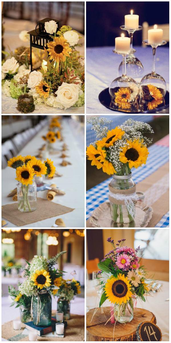 sunflower wedding decor. Black Bedroom Furniture Sets. Home Design Ideas