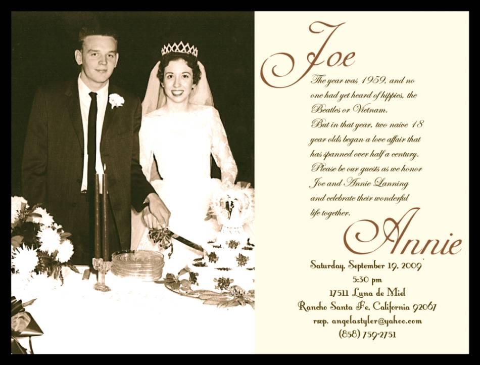 50th wedding anniversary invitations 50th wedding anniversary invitation cards stopboris Gallery