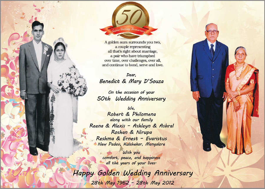 50th Wedding Anniversary Invitations Ideas Free Printable 25th ...
