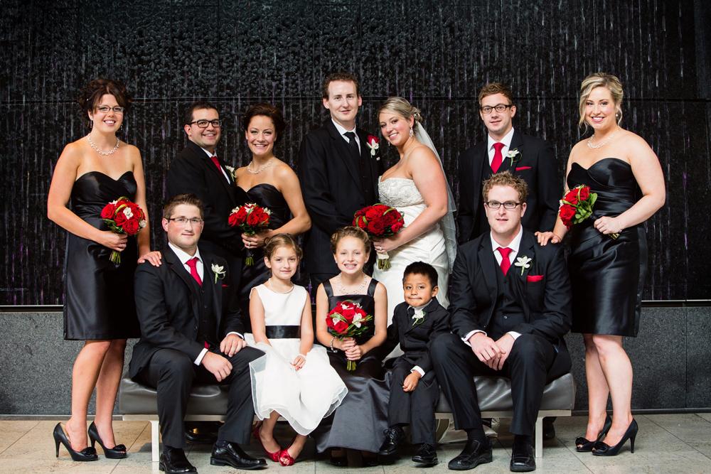 Red Black White Wedding