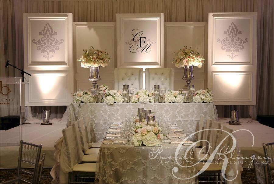 Backdrop For Wedding Head Table
