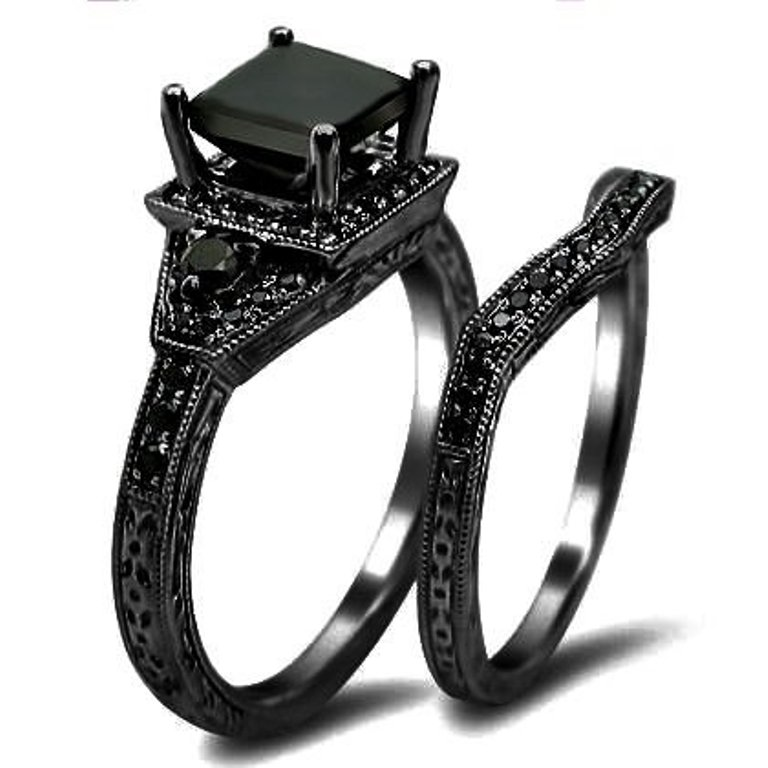 his and hers black wedding rings. Black Bedroom Furniture Sets. Home Design Ideas