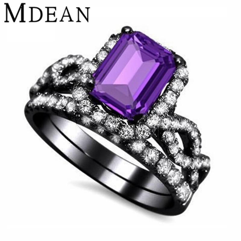 black and purple wedding rings purple diamond - Purple Diamond Wedding Ring