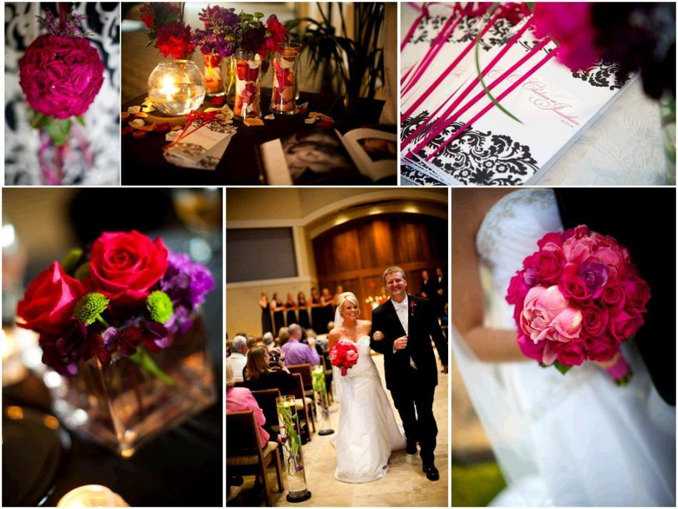 Purple White And Black Wedding Decorations