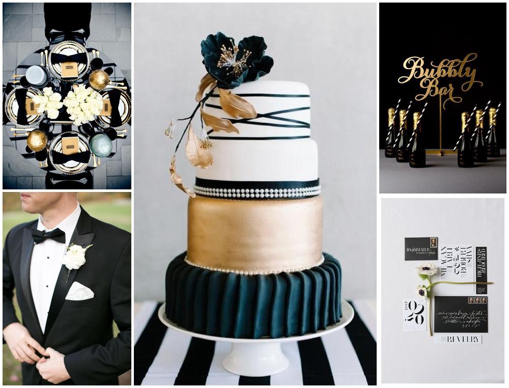 Black White And Gold Wedding Theme Brand