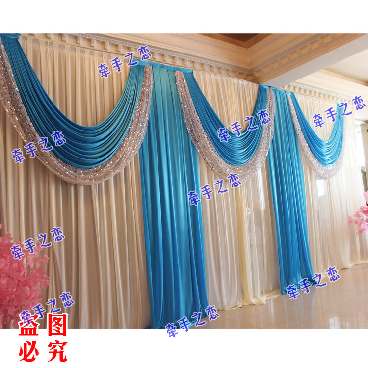 Blue wedding backdrop for Background curtain decoration