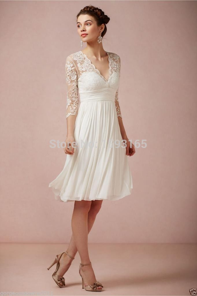 Casual Lace Wedding Dress White Good Dresses