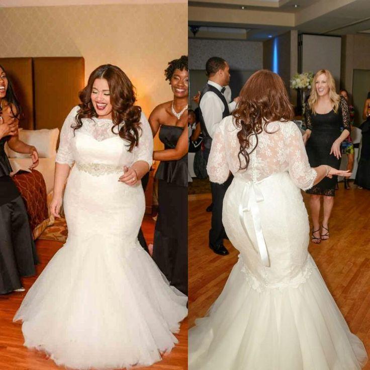 Contemporary Plus Size Wedding Dresses Size 30 Embellishment ...
